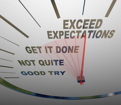 Does your current janitorial service exceed expectations?